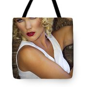 White Hot Color Palm Springs Tote Bag