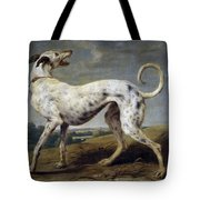 White Hound Tote Bag