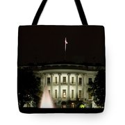 White House And Fountain Tote Bag