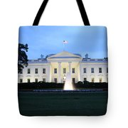 White House In Eveninglight Washington Dc Tote Bag