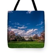 White House Lawn In Spring Tote Bag