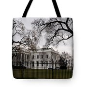 White House On A Cloudy Winter Day Tote Bag
