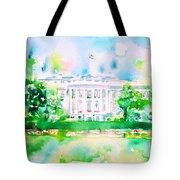White House - Watercolor Portrait Tote Bag