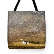 White Hut Under Stob Dearg Tote Bag