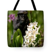 White Hyacinth In The Garden Tote Bag