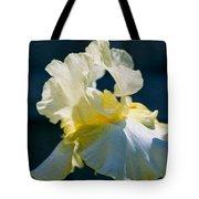 White Iris With Yellow Tote Bag