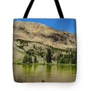 White Knob Mountain Lake Tote Bag