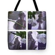 White Lace Picture Window Tote Bag