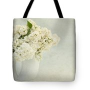 White Lilac In A Cream Jug Tote Bag
