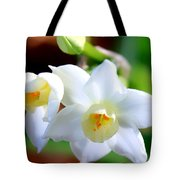 White Lilly Tote Bag