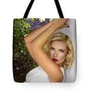 White Linen Palm Springs Tote Bag