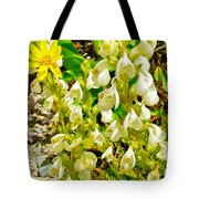 White Locoweed On Highline Trail In Glacier National Park-montana Tote Bag