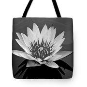 White Lotus Flower Tote Bag
