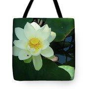 White Lotus I Tote Bag