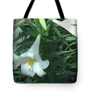 White Lovely Tote Bag