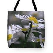 White Marguerite Tote Bag