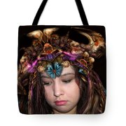 White Meat And Bones Tiara Tote Bag by Otto Rapp