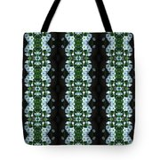 White Miniature Petunias Pattern Tote Bag