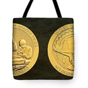 White Mountain Apache Tribe Code Talkers Bronze Medal Art Tote Bag