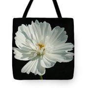 White On Black Tote Bag