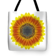 Orange And Yellow Sunflower I Flower Mandala White Tote Bag