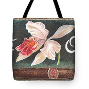White Orchid Cigar Label Tote Bag