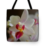 White Orchid Close Tote Bag