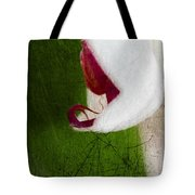 White Orchid Scratched Tote Bag