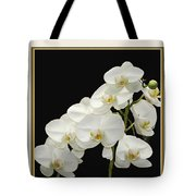 White Orchids II Tote Bag