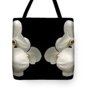 White Orchids Panorama Tote Bag