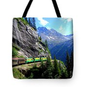 White Pass And Yukon Route Railway In Canada Tote Bag