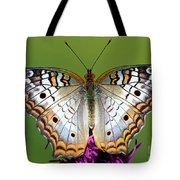 White Peacock Butterfly Tote Bag