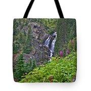 White Pearl Waterfall Vert Tote Bag