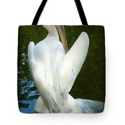 White Pelican Back Tote Bag