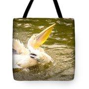 White Pelican Tote Bag