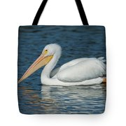 White Pelican Swimming Tote Bag