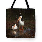 White Pelican Visitors To Gilbert Arizona Tote Bag