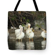 White Pelicans Grooming Tote Bag