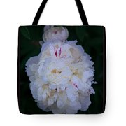 White Peony And Companion Abstract Flower Painting Tote Bag