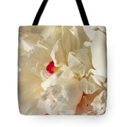 White Peony Flower Tote Bag