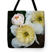 White Peony Flowers Series 2 Tote Bag