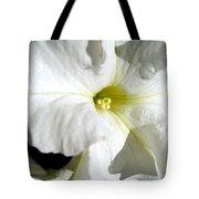 White Petunia Tote Bag