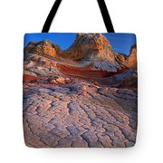 White Pocket Afterglow Tote Bag