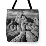 White Pocket Brain Rock Tote Bag by Jerry Fornarotto