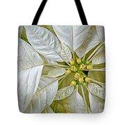 White Poinsettia Tote Bag