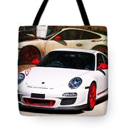 White Porsche Gt3rs Tote Bag