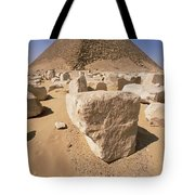 White Pyramid Of King Snefru Tote Bag