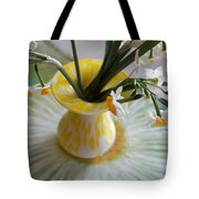 White Rays And Narcissus Tote Bag