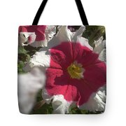White-red Petunia Tote Bag