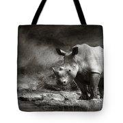 White Rhinoceros Tote Bag